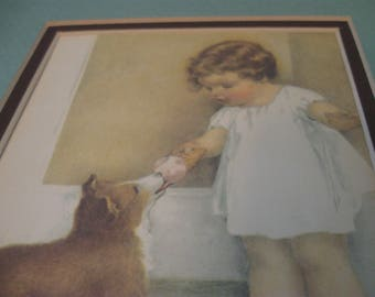 bessie pease gutmann THE REWARD small print matted numbered