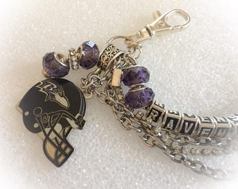 Baltimore Ravens inspired Jewelry Bracelet inspired  jewelry bracelets handmade