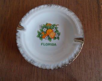 Vintage Small Ceramic Florida Ashtray