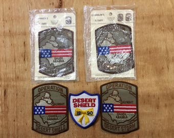 Lot of Vintage Operation Desert Storm Military Patches