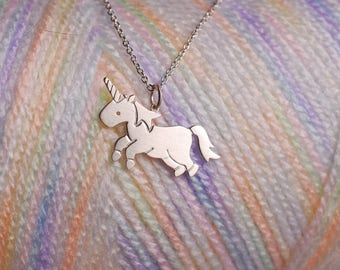Little Unicorn Necklace Sterling Silver