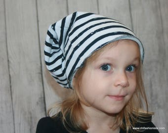 Slouchy Beanie/ Slouchy Hat/ Toddler Hat/ Baby Hat/ Hipster Baby/ Hipster Hat/Black and White/ Toddler Clothes/ Extra Slouchy Hat/