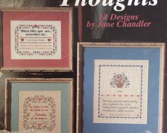 Friendship Thoughts/Counted Cross Stitch Patterns by Leisure Arts/1994/14 Designs/Samplers