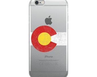 Colorado State Flag - Distressed iPhone Case
