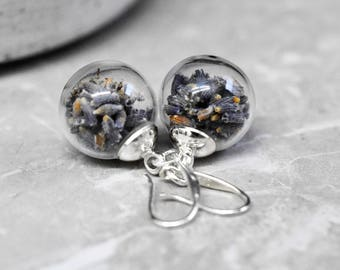 925 Sterling Silver Lavender Earrings (OHR925-67)