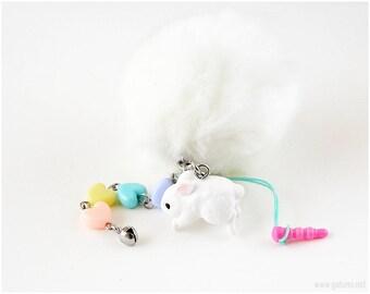 Bunny Phone Charm, Pastel Phone Charm, Fairy Kei Charm, Sweet Lolita, Harajuku Fashion, Pastel Accessories