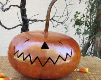 Halloween Gourd Jack O Lantern Primitive Pumpkin Decoration