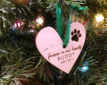 Personalized Pet ornament,Personalized pet memorial ornament, Personalized pet gift, dog memorial, Laser engraved urn,Dog Ornament