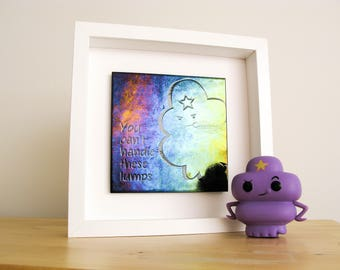 Lumpy Space Princess wall art, Adventure Time decor, LSP Glass Wall hanging, Nerd Decor, Geek decor, abstract wall art, geek decor