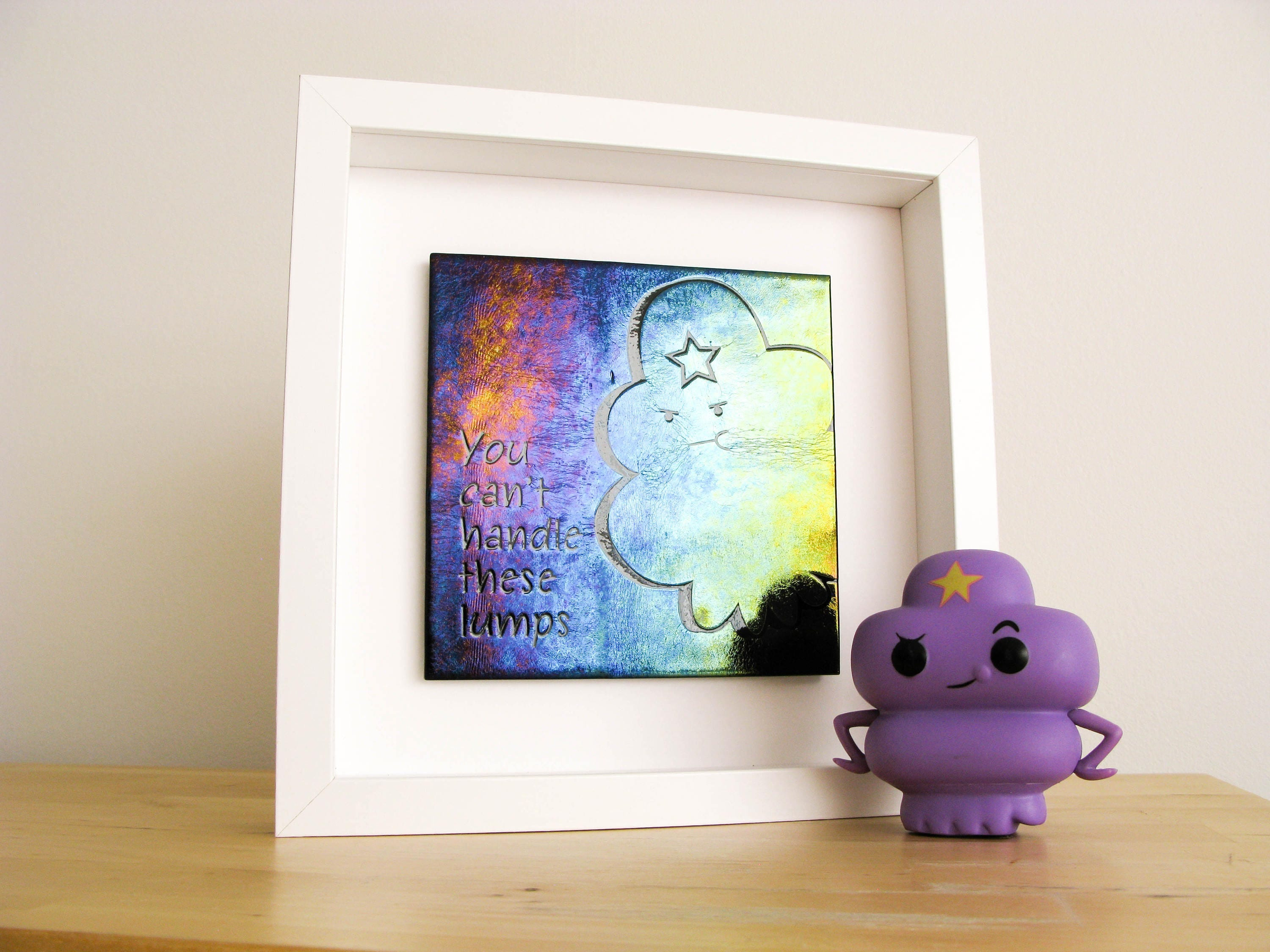 nerd decor - lumpy space princess wall art adventure time decor lsp glass