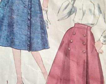 Simplicity 3166 Wrap Around Skirt 1950s