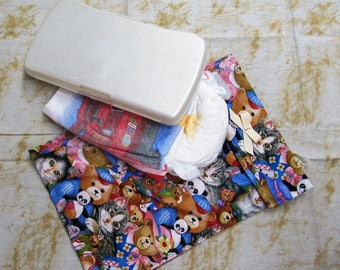 baby wipes case, diaper clutch, child care, baby accessories, diaper bag, diaper accessory, baby and child care, diaper purse, kitty , bears