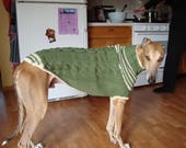 dog/ greyhound sweater knitting pattern PDF file ONLY!