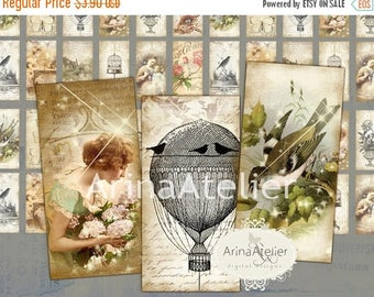 SALE 30% OFF - Domino Tiles - Feelings and Sentiments - Digital Tiles - Digital Domino Tags - Digital Tags - Digital Collage Sheet