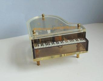 Vintage piano music box Musical piano 1960s music box