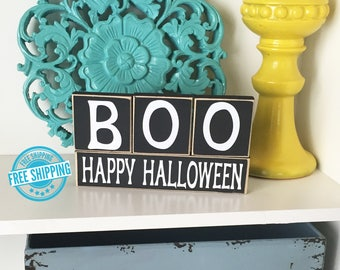 Boo Halloween Blocks- Halloween Decor, Halloween Blocks, Halloween Sign, Happy Halloween, Boo Blocks, Boo Sign, Halloween Decorations