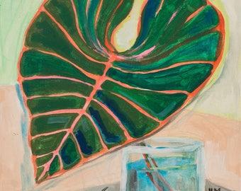 Tropical Leaf |  ORIGINAL PAINTING