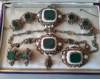 Austro Hungarian Full Parrure Jewelry Set 835 PV c 1880 In Need Of Tender Loving Care  Free Shipping World Wide
