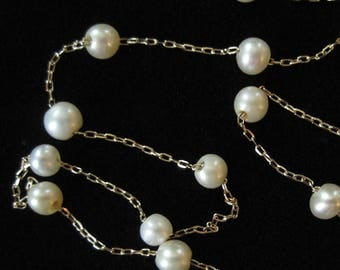 14K Gold Fresh Water Pearl Necklace