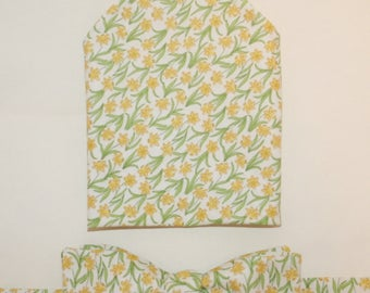 Men's bow-tie & pocket square set - Daffodils, Spring, Flowers, Floral, men's gift set