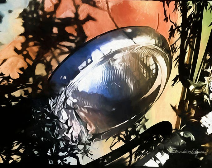 Chevy Headlight, Fine Art Print on Paper to Canvas, Chevrolet car,artist Brenda Salyers