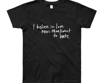 Believe In Love Small People Shirt in Black