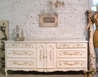 Painted Cottage Chic Shabby French Dresser DR903