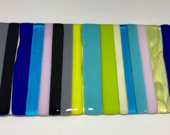 Multi-Color Striped Glass Sushi Tray