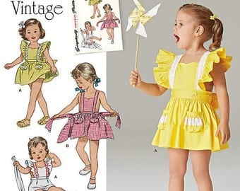 Cute Little Girls 1940s Apron Sundress Patterns--Girls Multi Sizes  40-70% off Patterns n Books SALE