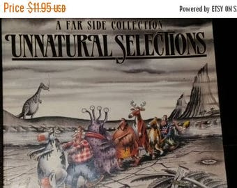 Farside--Unnatural Selections--Illustrated Vintage pocket Book--Good Condition---40-70% off Book SALE