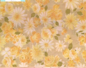 Twin Vintage Fitted Sheet with Yellow Flowers