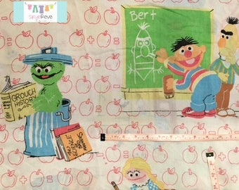 Twin Vintage Sesame Street Flat Sheet
