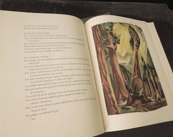 Walt Whitman Leaves of Grass Poems - Illustrations Lewis C. Daniel - 1940 - Gift Book Poetry Slipcase - Vintage  Literary Book Lover Gift