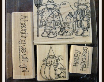 Stampin Up! A Haunting We Will Go ~ Trick or Treat/Ghost/Witch/Cowboy Halloween Stamp set