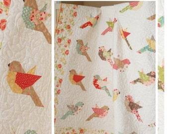 Feathers Pattern, 1 Pattern, Bird Quilt Pattern,  The Pattern Basket, Birds, Pieced Birds, Flying, Chirp, In Flight, Feathers, Feather, Fly