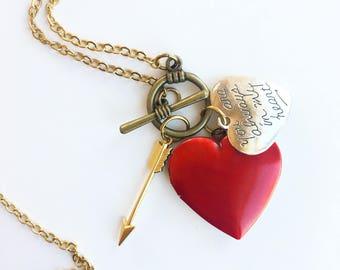 Always in my Heart Locket Necklace