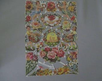 16 Vintage Die Cuts Dolls Cherubs Roses Flowers W. Germany DieCuts Scrapbook OOAK