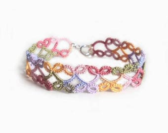 Summer Fashion Bracelet in Tatting - Lillian - Small