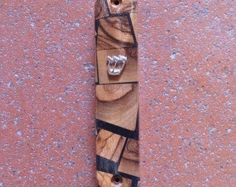 Olive wood mezuzah from the Holy Land No.04