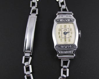 Art Deco Watch, 1920s Watch, Lenrud Watch, Swiss Watch, Ladies Watch, Working Watch