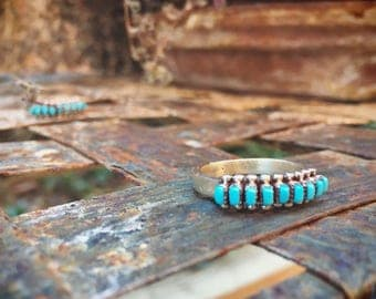 Turquiose Ring for Women Zuni Jewelry, Native American Indian Ring, Turquoise Jewelry