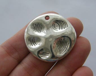 BULK 20 Paw charms antique silver tone A343