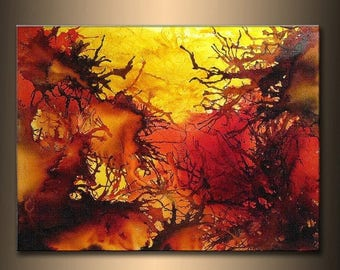 Original Contemporary Modern Colorful Canvas Art, by Henry Parsinia 48x36