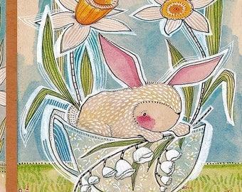 """Tea With Bunny Panel - Cori Dantini - 24"""" x 44"""""""