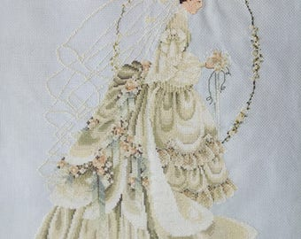 New Finished Completed Cross Stitch - Bride - P5