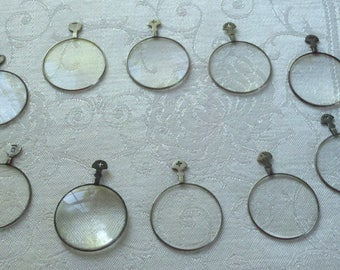 Vintage Optical Lenses 10 Pieces