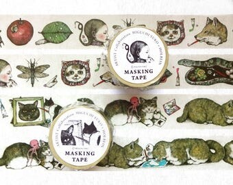 NEW - Yuko Higuchi x Holbein 2016 Collaboration 30mm Washi Tapes at your choice for journaling, packaging, planner washi