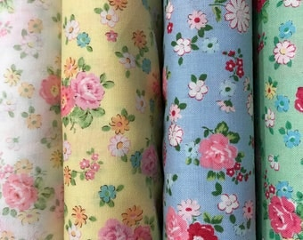 Atsuko Matsuyama 30's collection 2017 floral bundle - 1930's reproduction quilt fabric - by Yuwa Japan