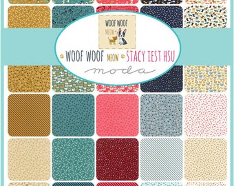Woof Woof Meow Fat Quarter Bundle by Stacy Iest Hsu for Moda