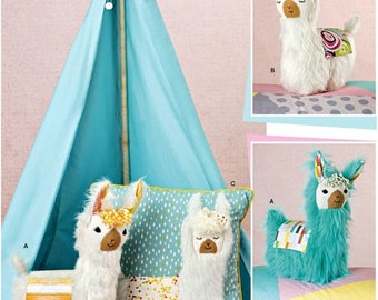Llama Stuffed Animal Pattern, Llama Toy Animal Pattern, Childs' Toy Llama Pattern, Simplicity Sewing Pattern 8441